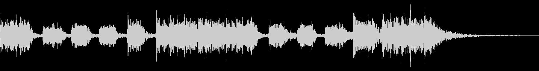 インパクトあるロックなジングル12の未再生の波形