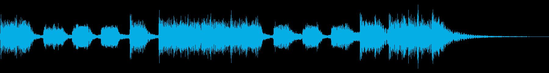 インパクトあるロックなジングル12の再生済みの波形