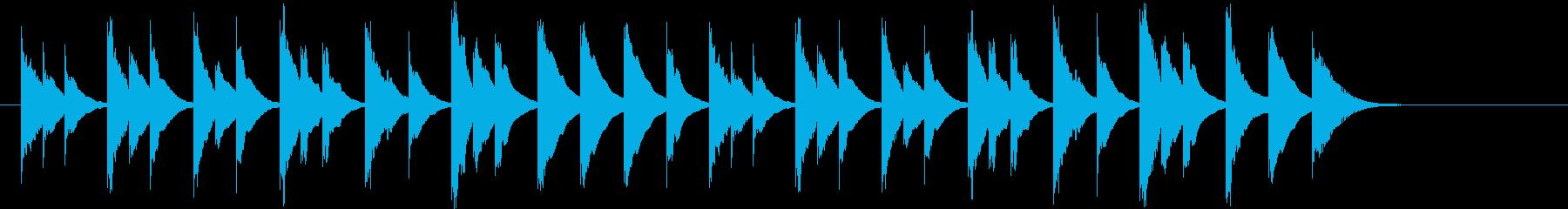 木琴がメインのほのぼのとしたジングルの再生済みの波形