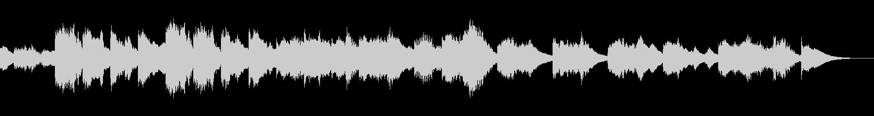 アニメ風の怪しくコミカルなマリンバの曲の未再生の波形