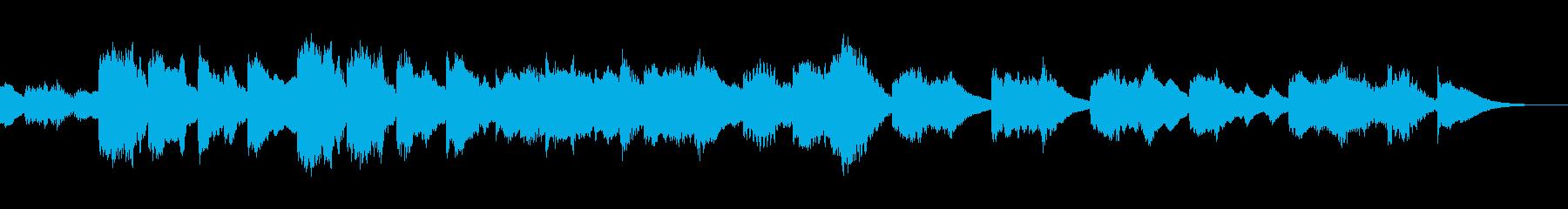 アニメ風の怪しくコミカルなマリンバの曲の再生済みの波形