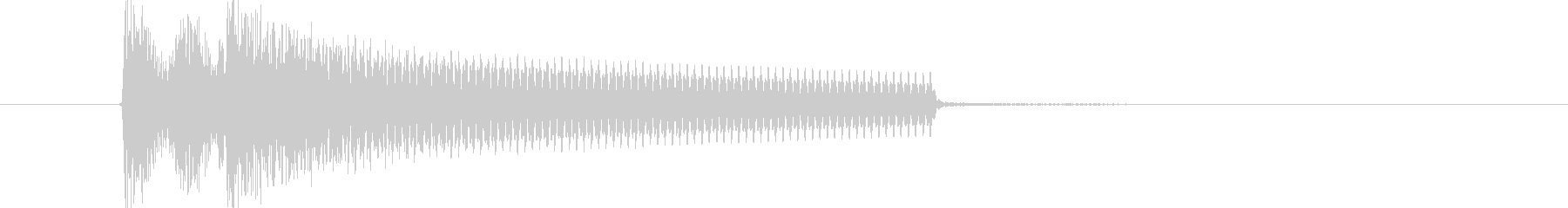 Impact piano sound's unreproduced waveform
