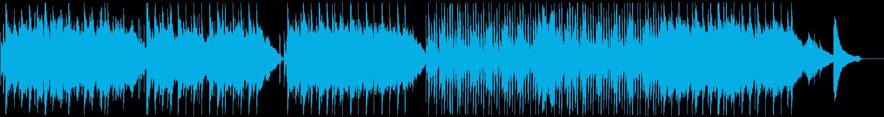 ナチュラルでゆったりとした明るい曲の再生済みの波形