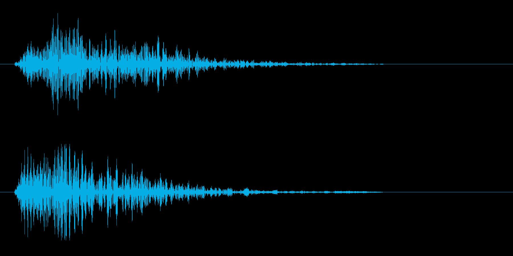 ビュン(一瞬で通り過ぎる音)の再生済みの波形