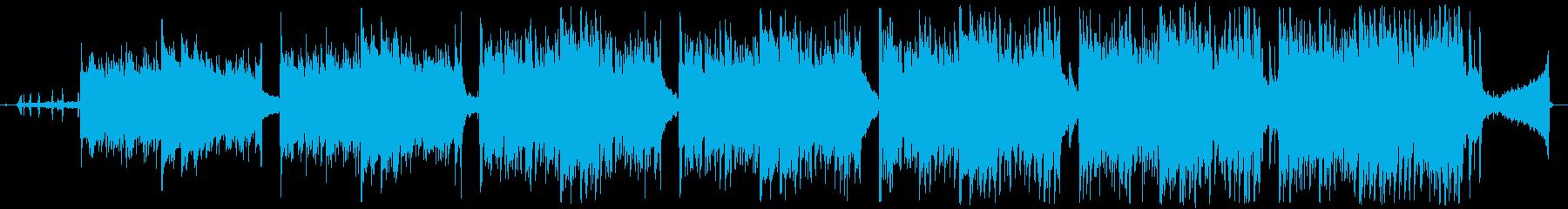 鳥の声にアコギが何本も重なっていくの再生済みの波形