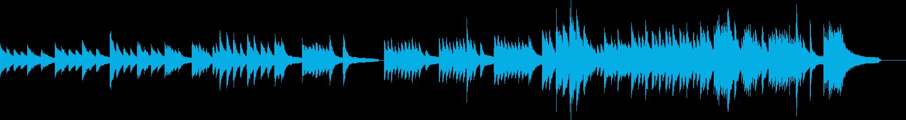 ピアノソロ。しっとりとした切ない曲の再生済みの波形