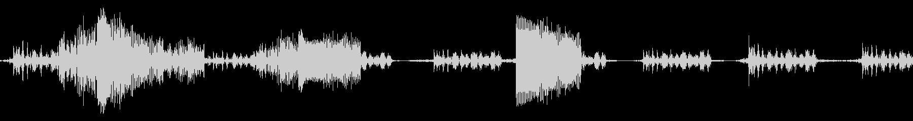ビープ音13の未再生の波形