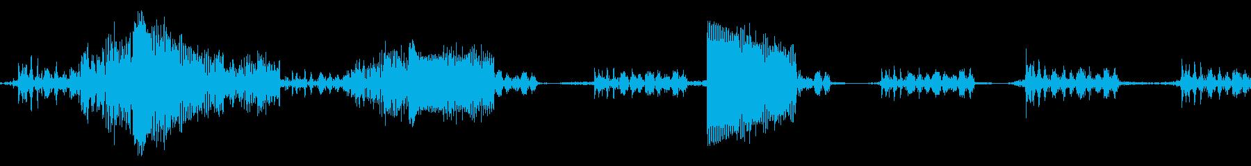 ビープ音13の再生済みの波形