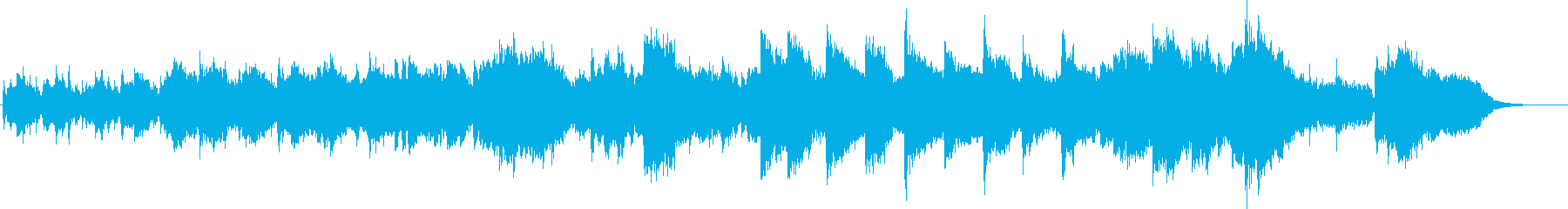 オーボエとピアノの哀しげなジングルの再生済みの波形