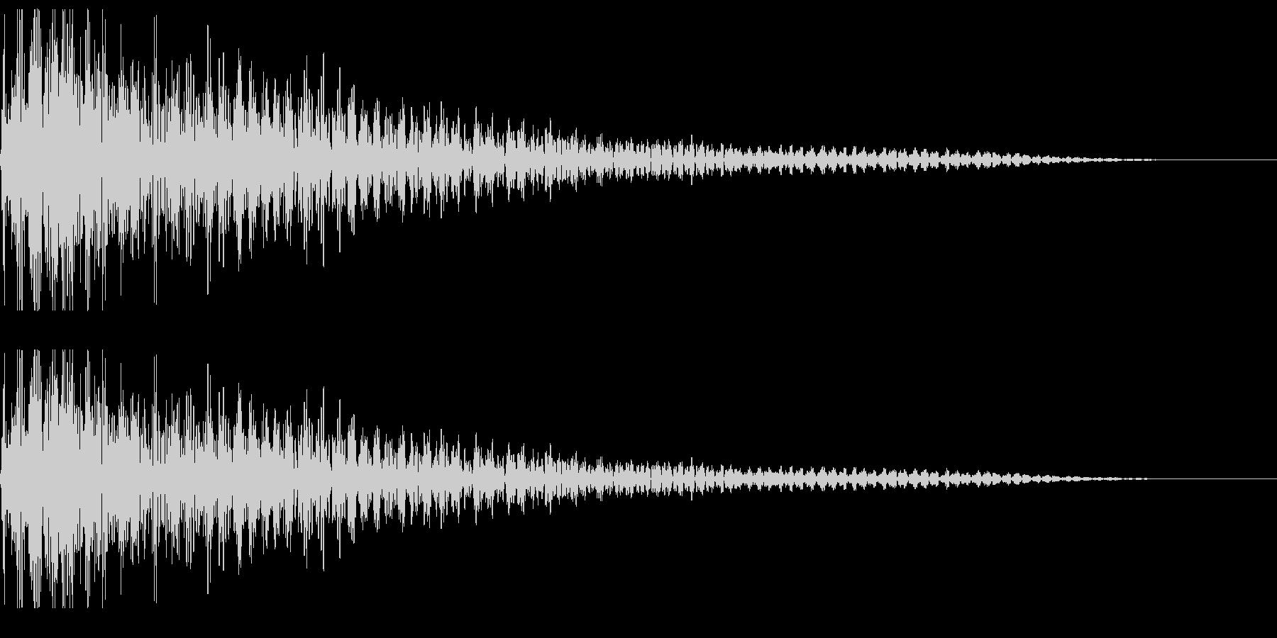 ぼよよん ボヨヨン 揺れる音の未再生の波形