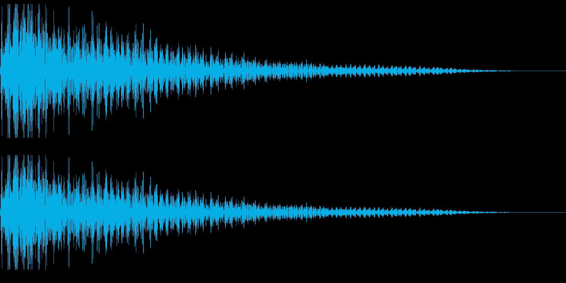 ぼよよん ボヨヨン 揺れる音の再生済みの波形