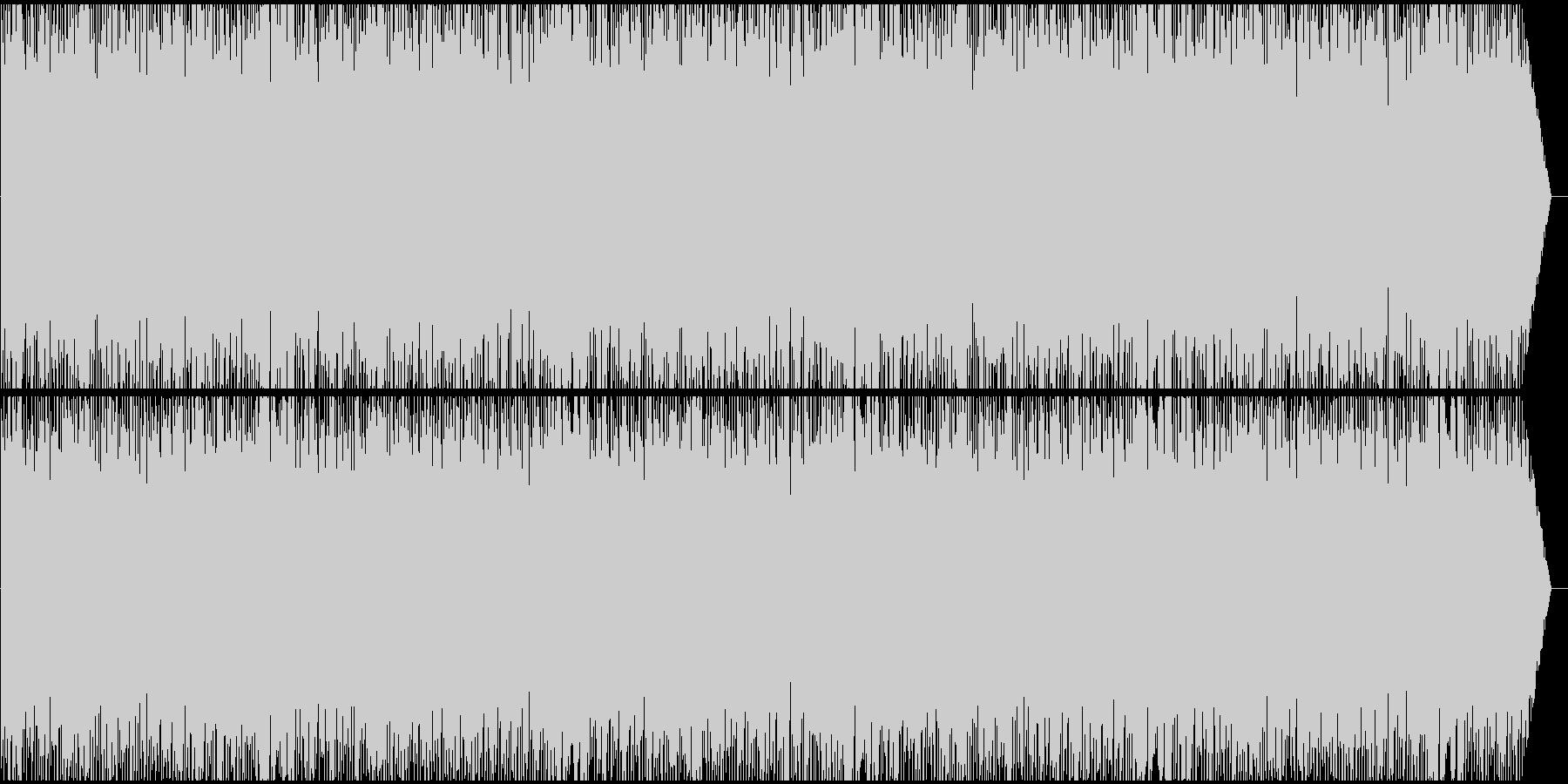 楽しげで快活なイメージのBGMの未再生の波形