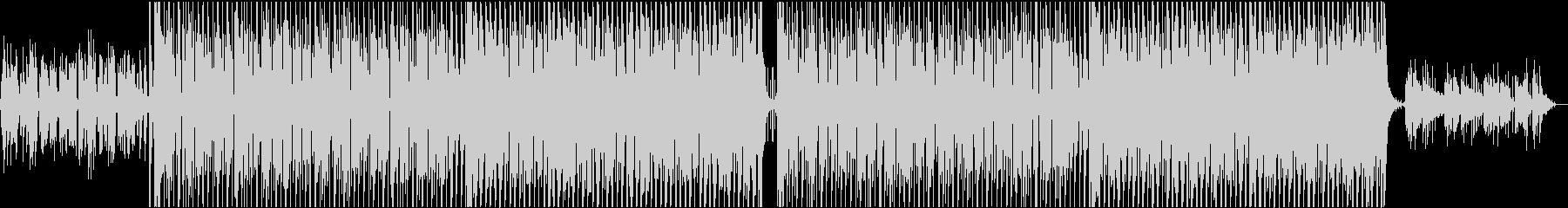 ワウが効いた単音カッティングギターの未再生の波形