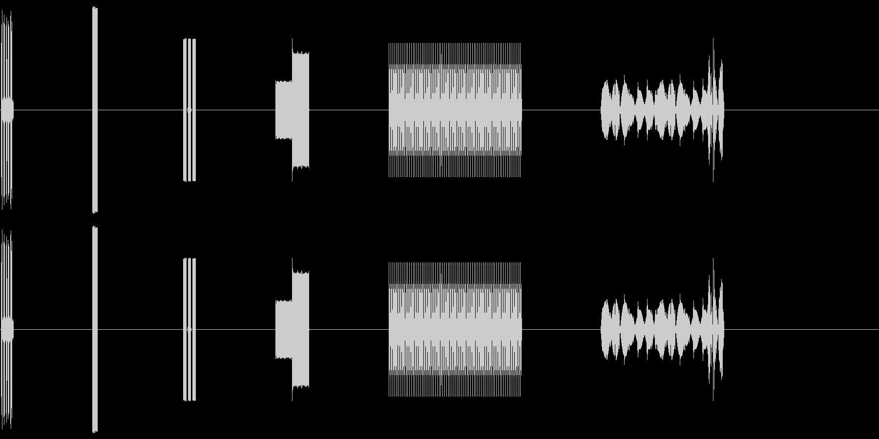 コンピューター画面のビープ音X6の未再生の波形
