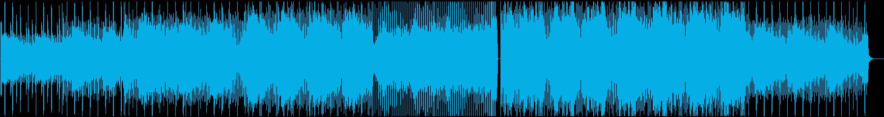個性的で可愛いスローエレクトロニカの再生済みの波形