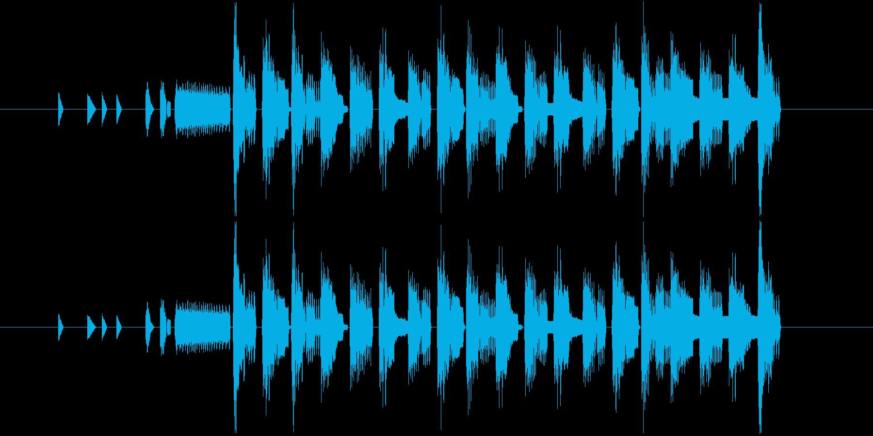 チップチューンのゴキゲンなジングル!の再生済みの波形