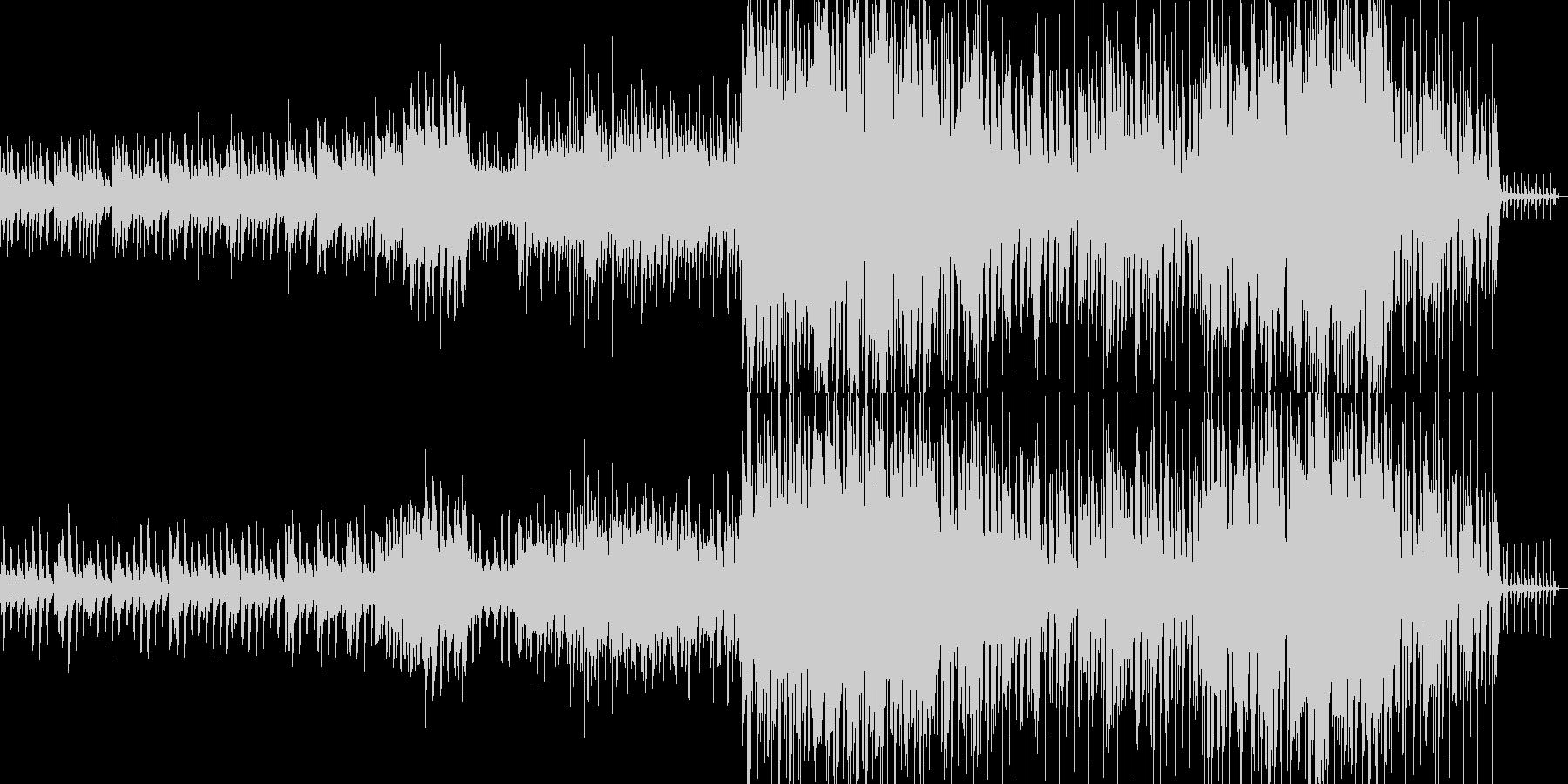 疾走感溢れるピアノテクノの未再生の波形