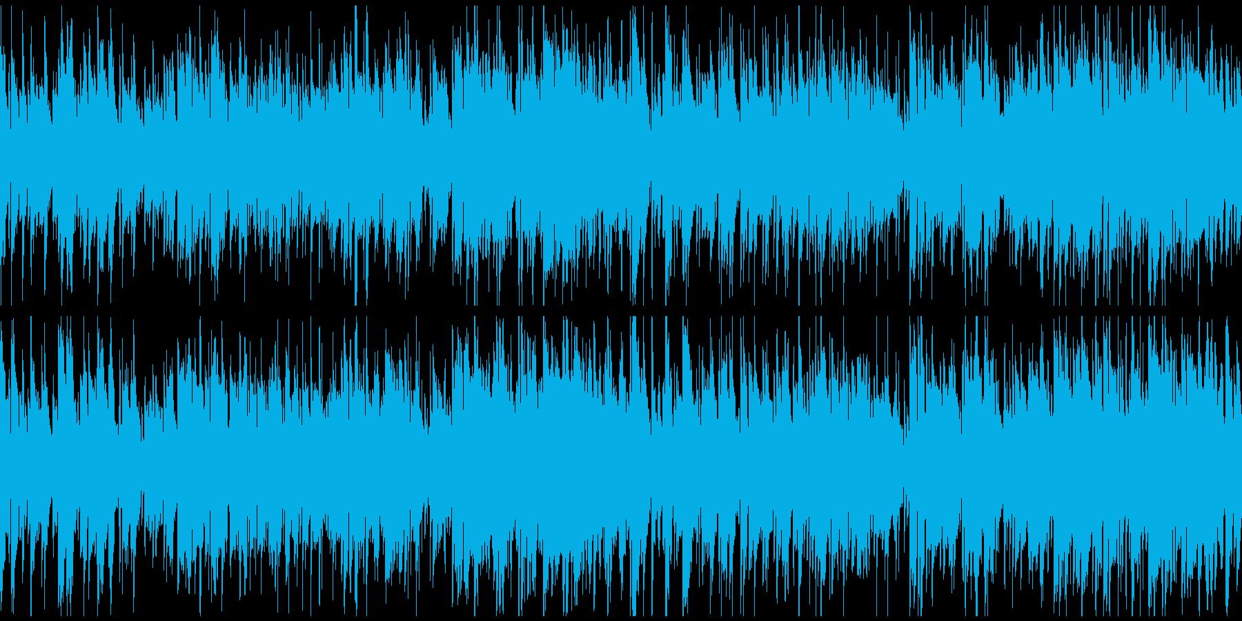 秋の散歩、お洒落ボサノバ、大人※ループ版の再生済みの波形