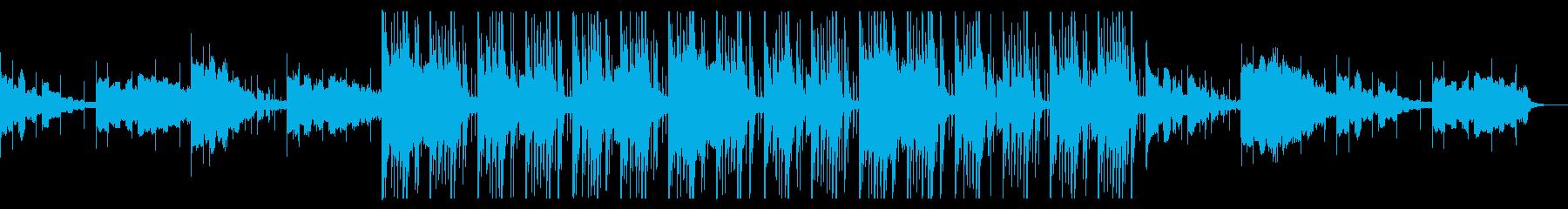静かながら軽快さのあるポップスの再生済みの波形