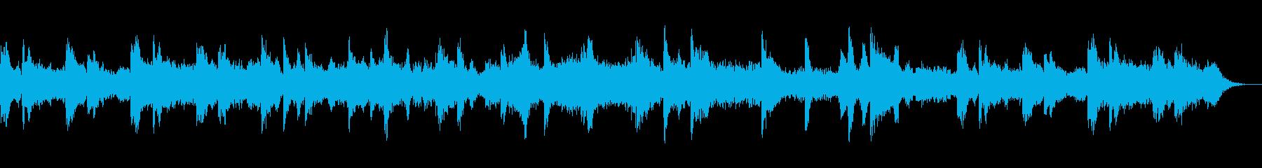 怖い話・怪談用・ホラー用BGMの再生済みの波形
