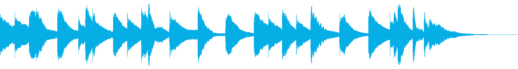 素朴で穏やかで拙いピアノの30秒ジングルの再生済みの波形