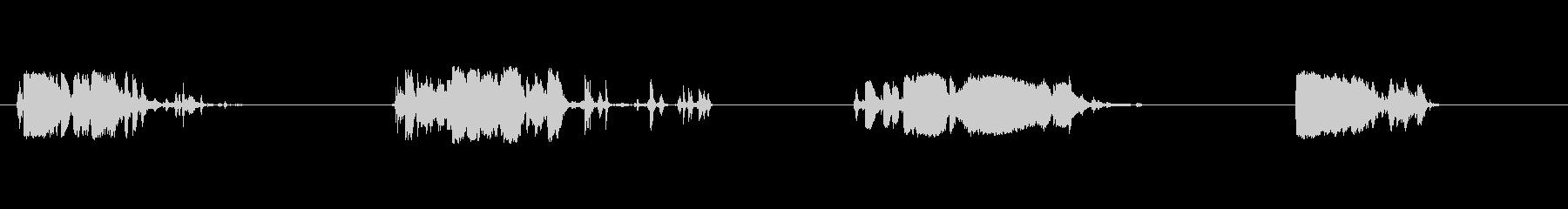 ショック-メタリックショックの未再生の波形