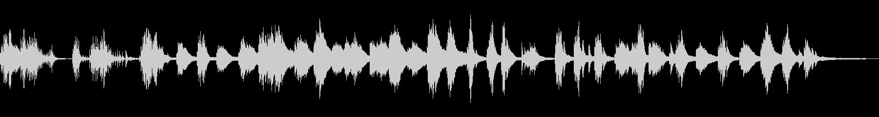 怪談/静かな和風曲20-ピアノソロの未再生の波形