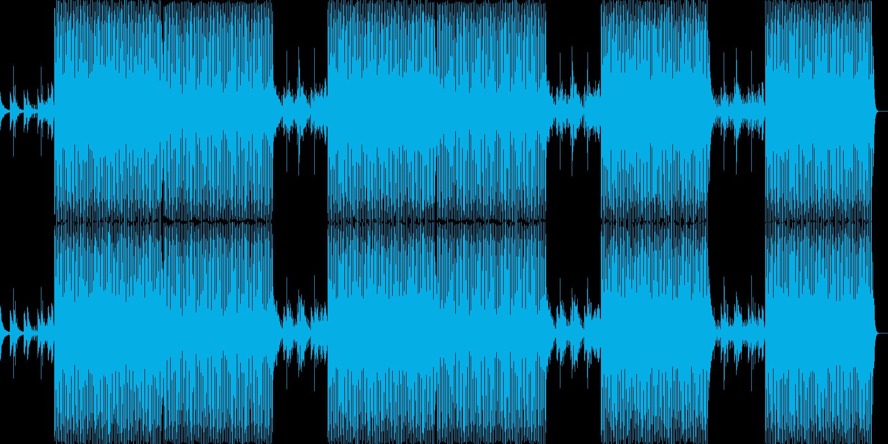 テンポ感あるノリの良い和風BGM音楽の再生済みの波形