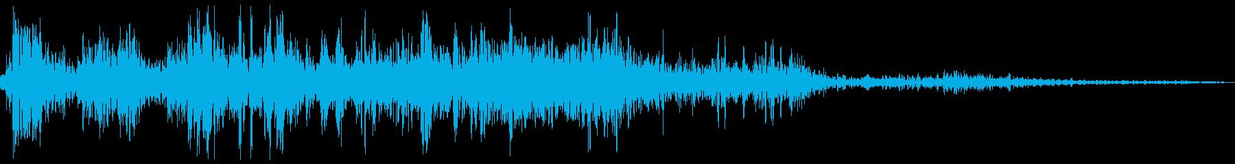 【銃声音007】ピストルの発砲音の再生済みの波形