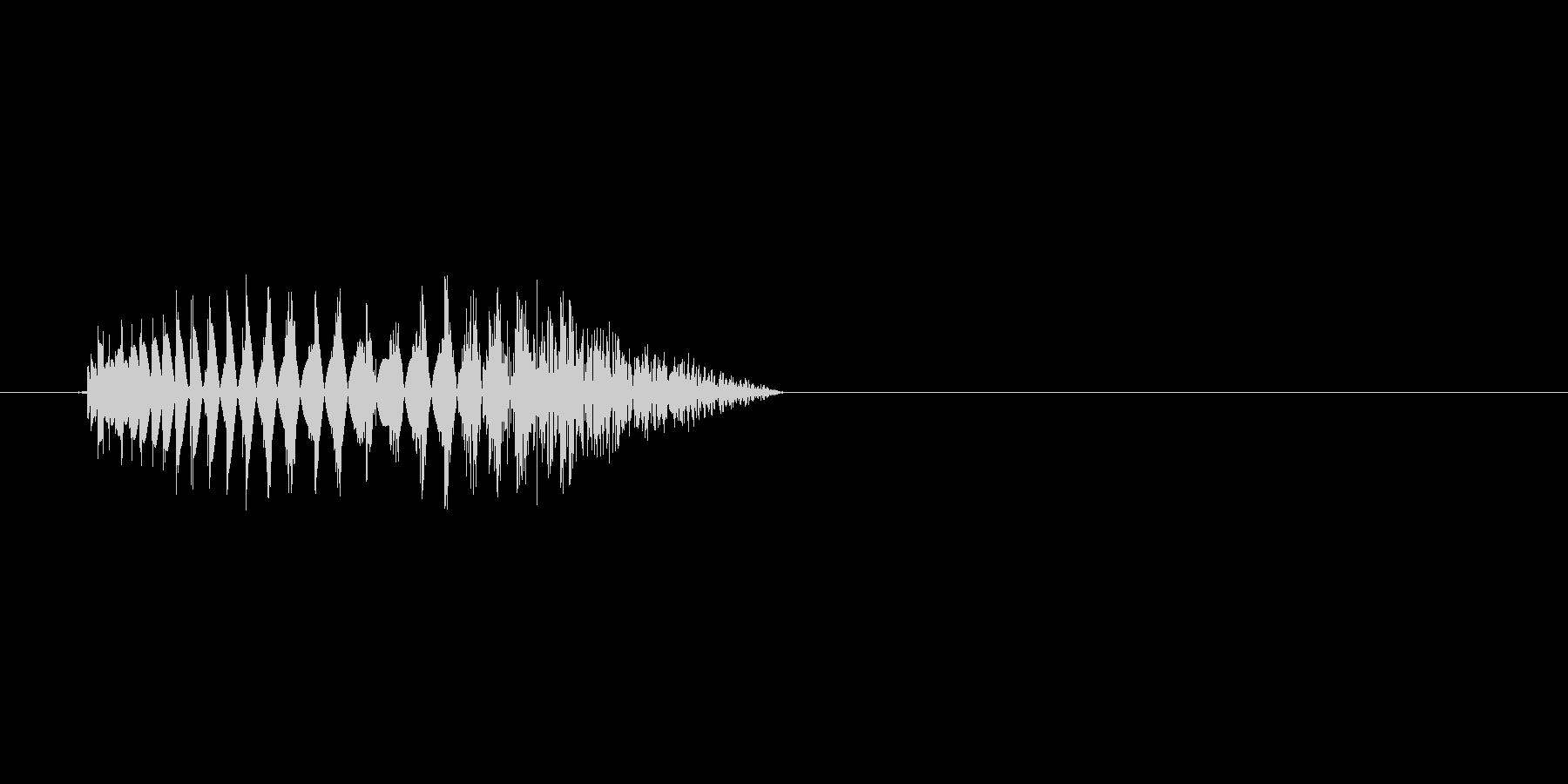 どす。打撃音(残響なし)です。 の未再生の波形