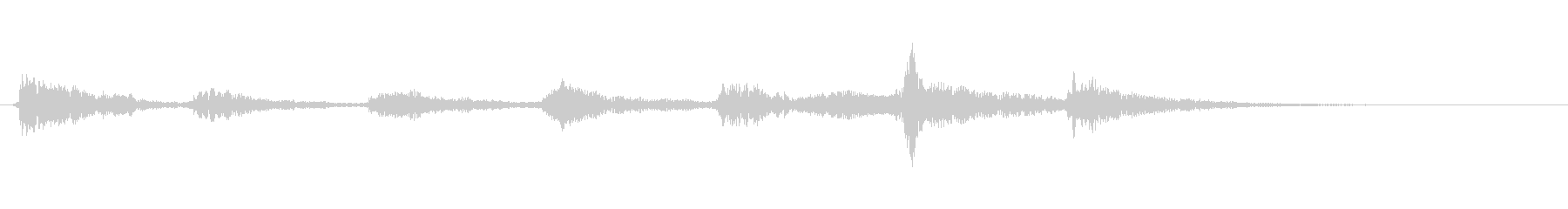 かわいいオーケストラのジングルの未再生の波形