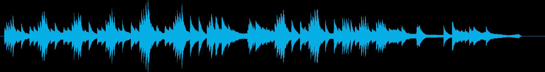 夏のイメージのピアノ02の再生済みの波形