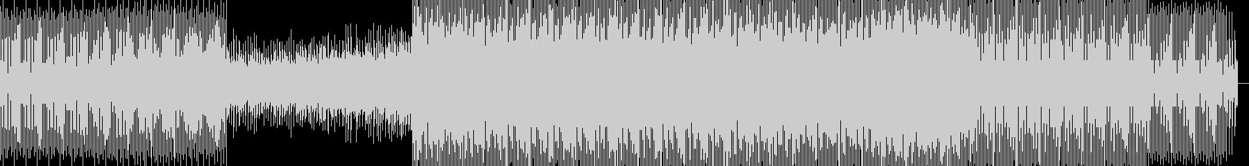 ミッドテンポなエレクトロビートの未再生の波形