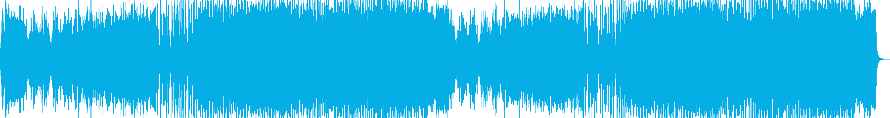 緊迫したボス戦をイメージした壮大な戦闘曲の再生済みの波形