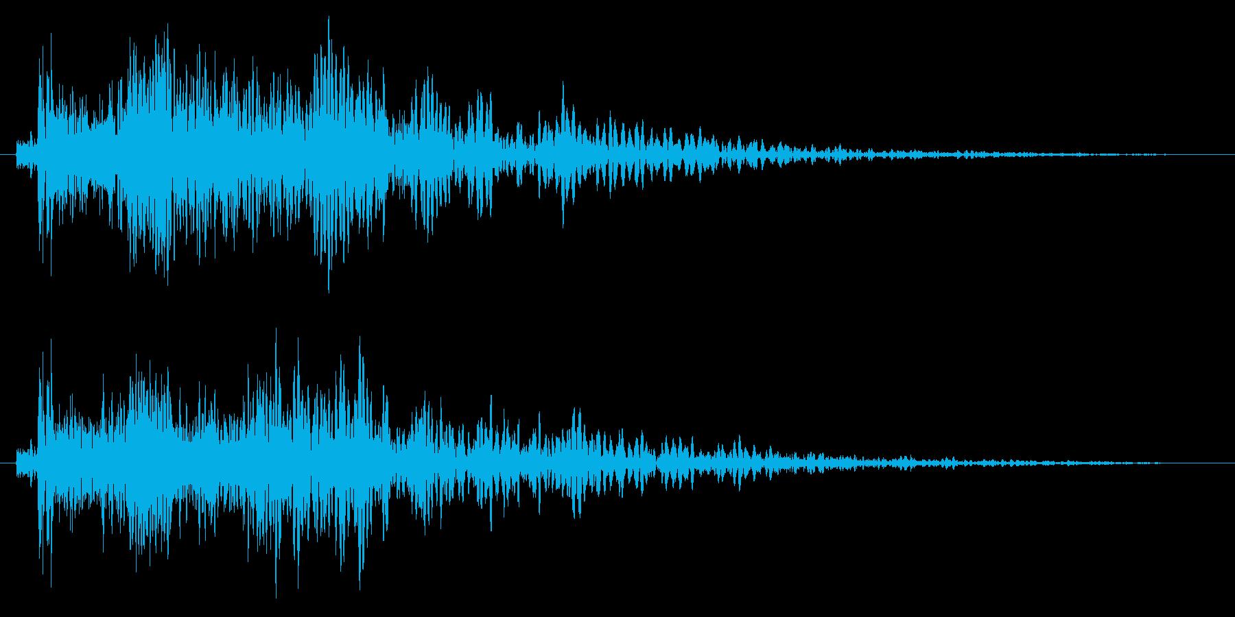 ブチッと強制シャットダウンの再生済みの波形