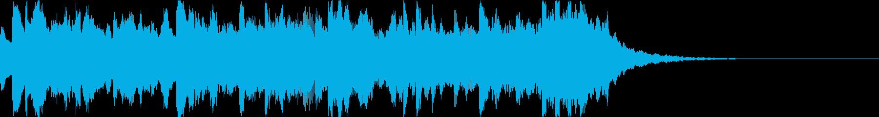 時報 呼びかけ チャイム(残響なし)の再生済みの波形
