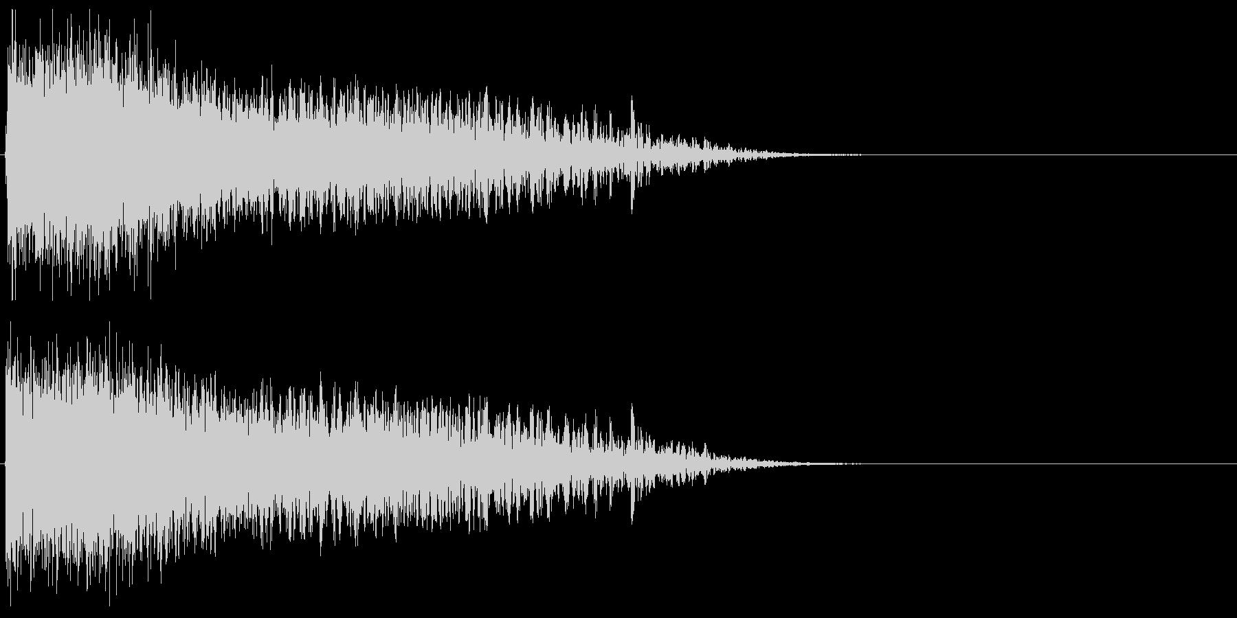 自機の消滅・特殊な爆発音#11の未再生の波形