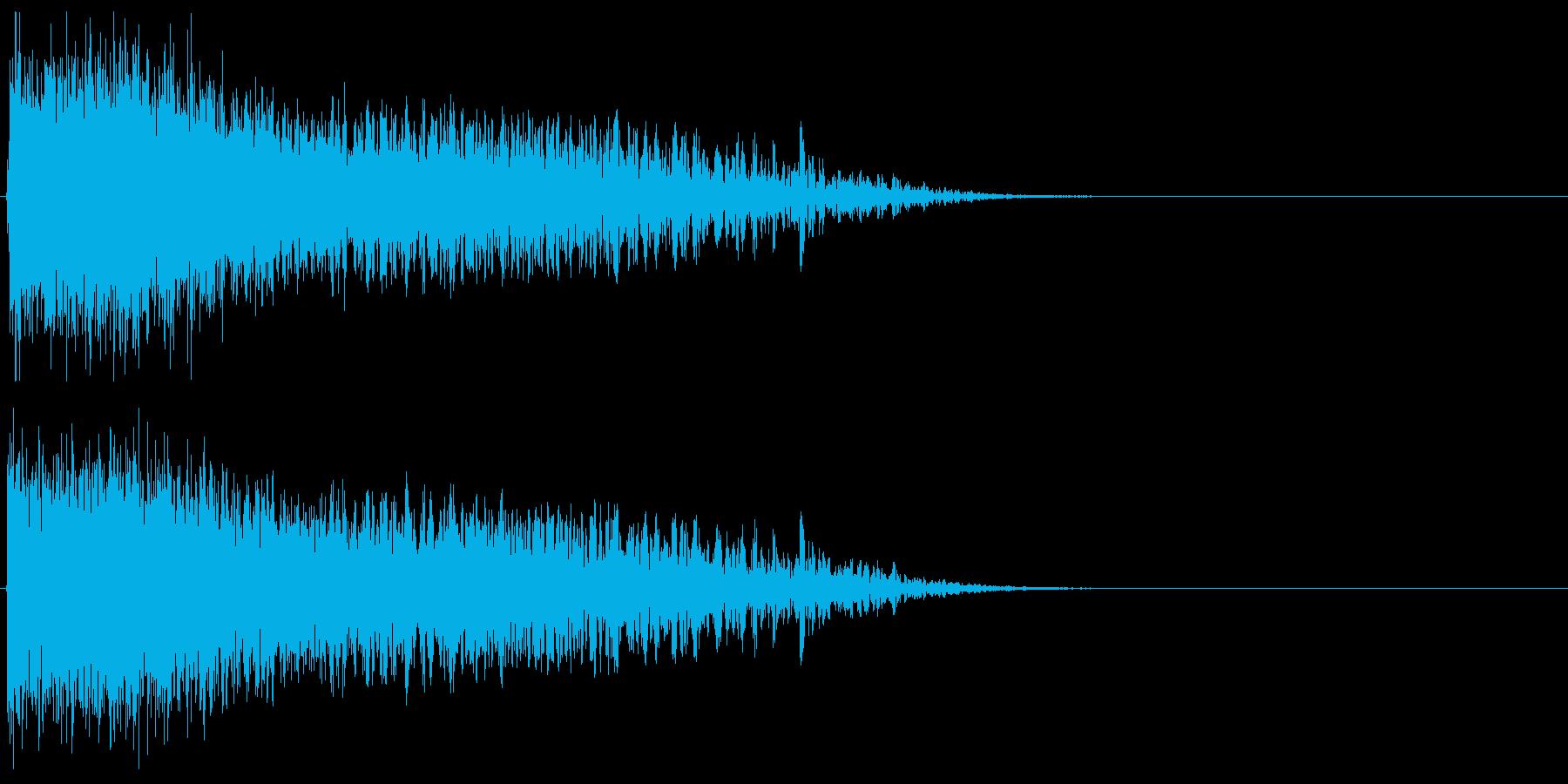 自機の消滅・特殊な爆発音#11の再生済みの波形