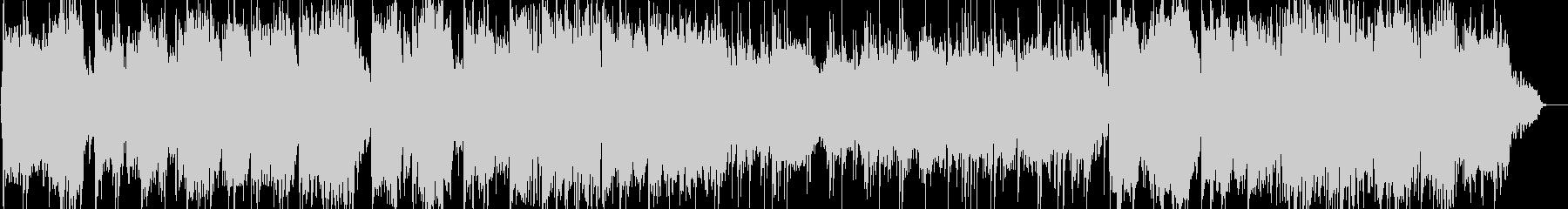 ケーナとシンセサイザーのヒーリング音楽の未再生の波形