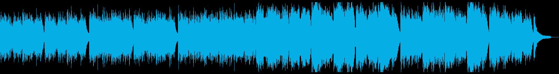 優しく温和なピアノと弦:フル1回の再生済みの波形