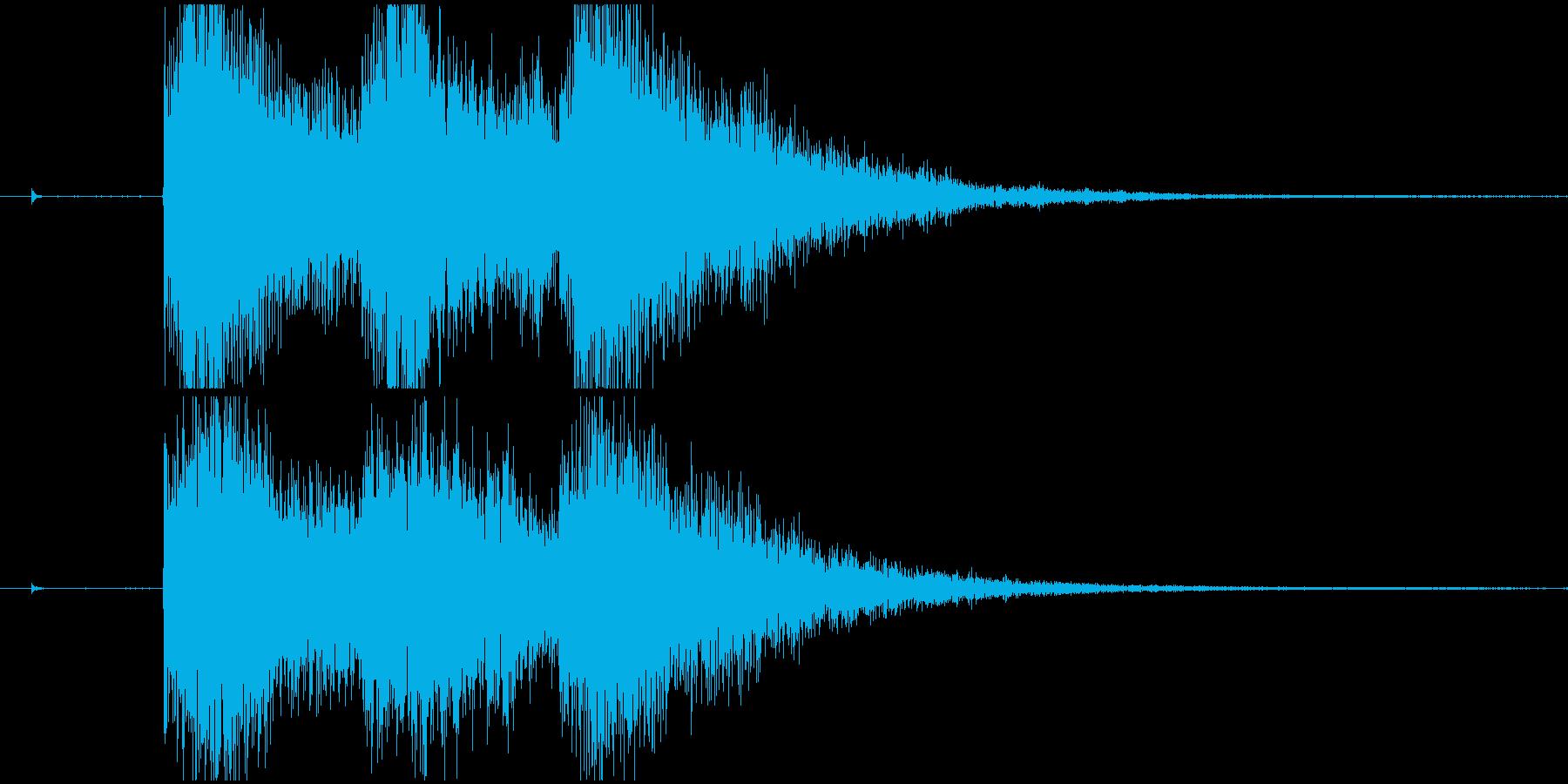 短いファンファーレの再生済みの波形