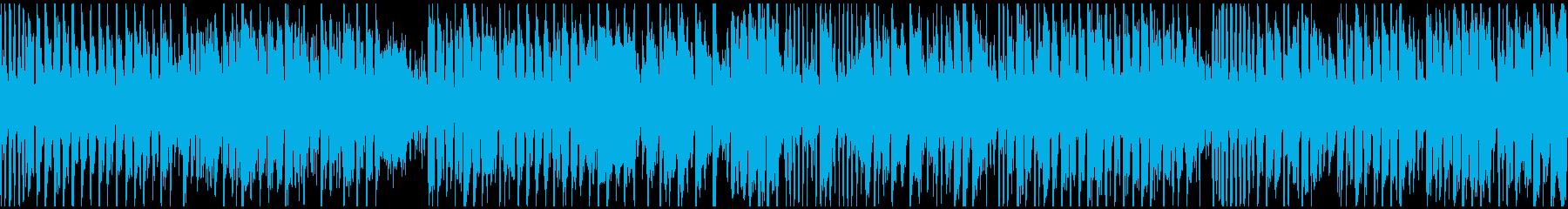 ブリブリした音色の爆速コメディ※ループ版の再生済みの波形