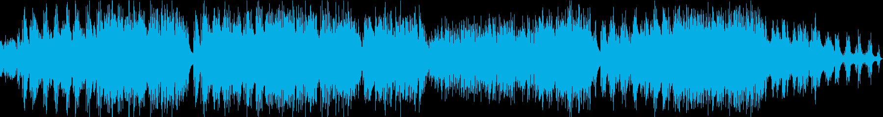 落ち着いた癒し系のギターデュオ曲の再生済みの波形