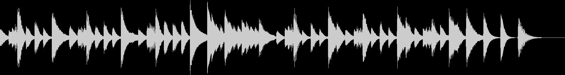 じゃれる猫を題材にした軽快ピアノジングルの未再生の波形