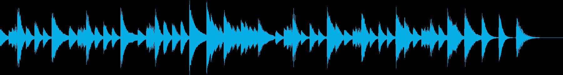じゃれる猫を題材にした軽快ピアノジングルの再生済みの波形