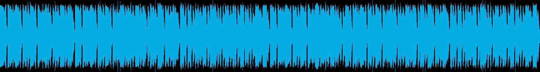 ケルト音楽風ループ BGMの再生済みの波形