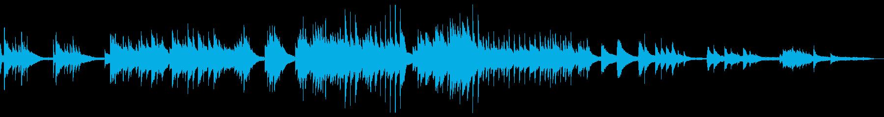 しっとり温かいイメージのピアノバラードの再生済みの波形