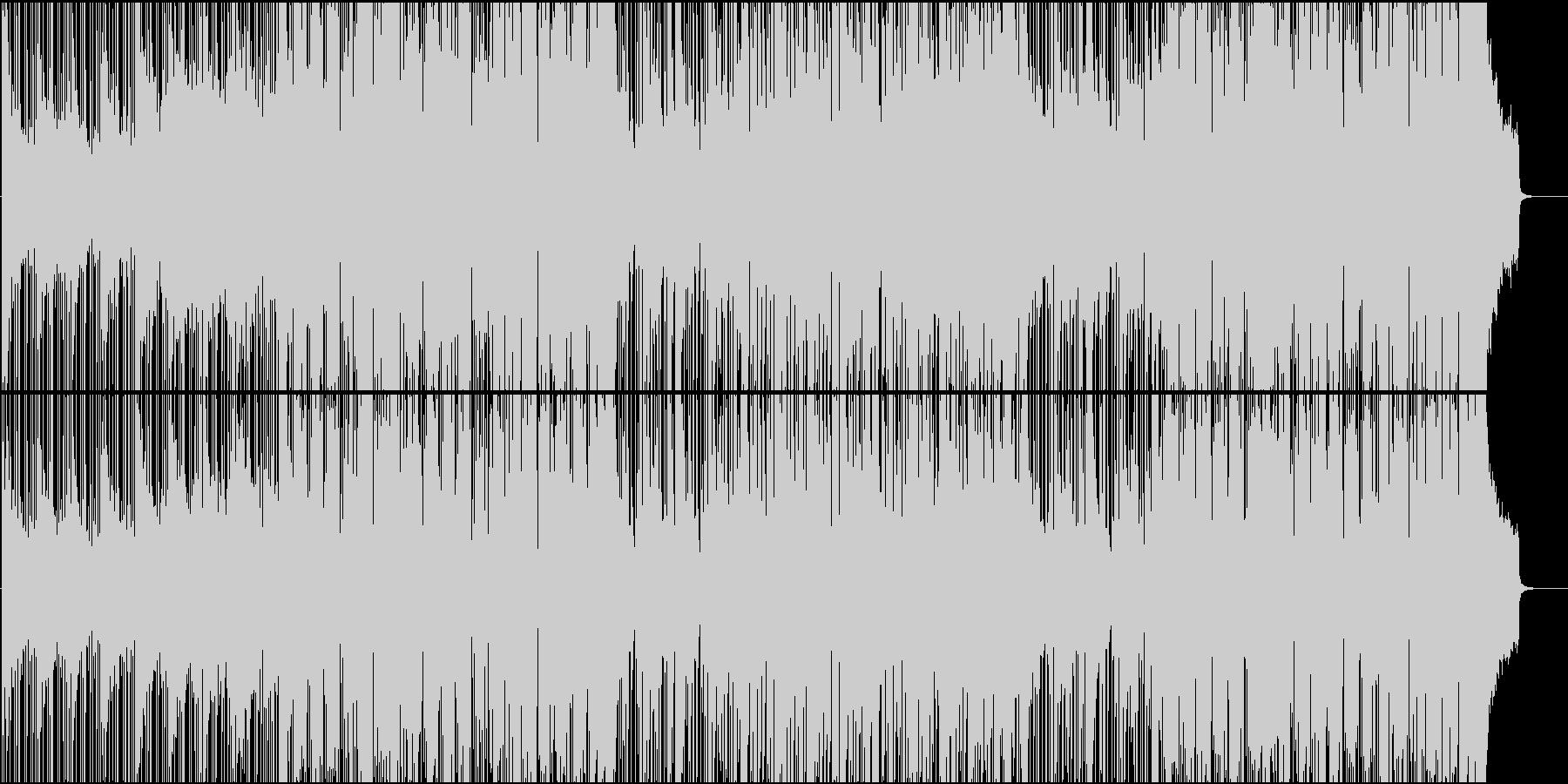 ニュース、ナレーション用活動的なBGMの未再生の波形