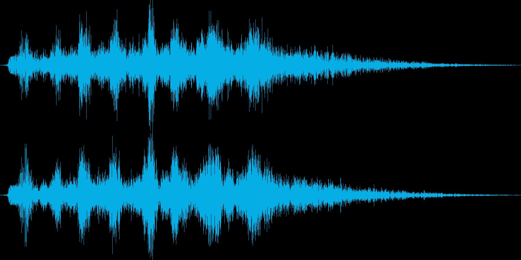オリジナルのモンスターの鳴き声。妖精系の再生済みの波形