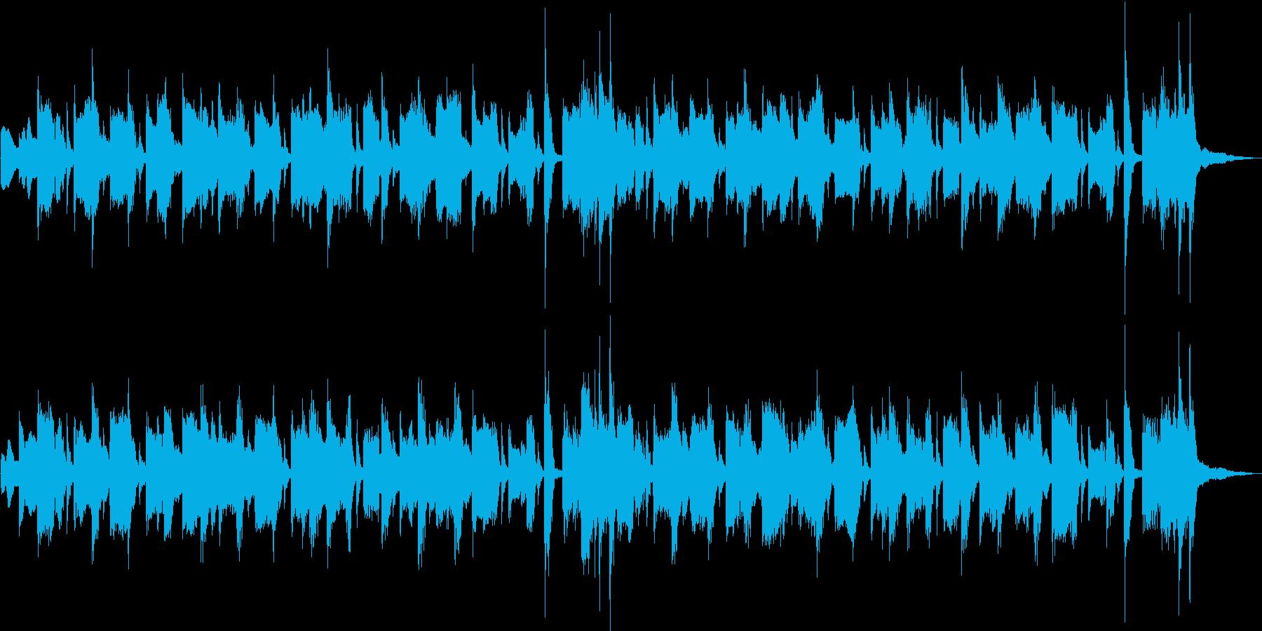 ロシア民謡風の可愛いコサックジングルの再生済みの波形